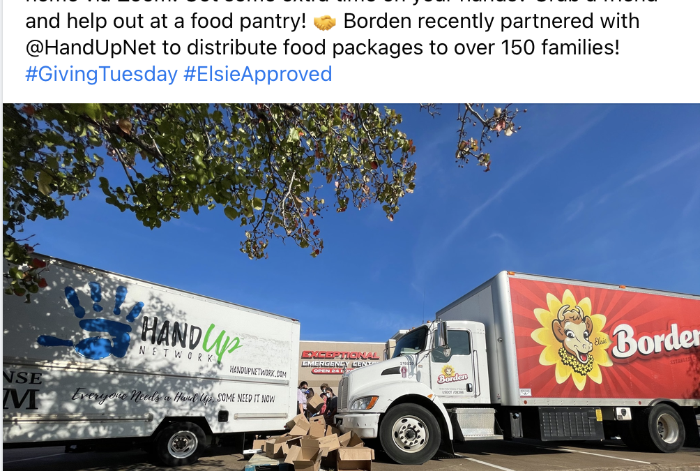 Hand Up Network featured in National Promotion by Borden Dairy