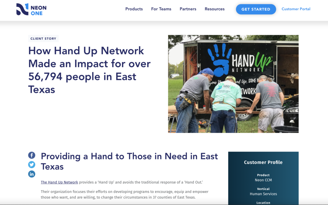 Neon One Introduces Hand Up Network to its International Audience